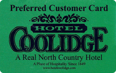 Hotel Coolidge Preferred Customer Card